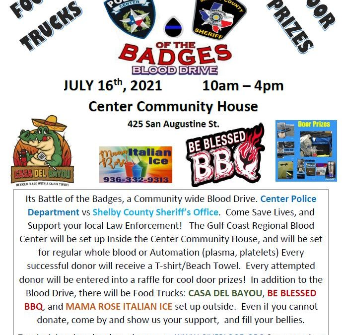 Battle of the Badges Blood drive set for July 16