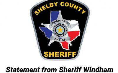 Statement from Sheriff Windham